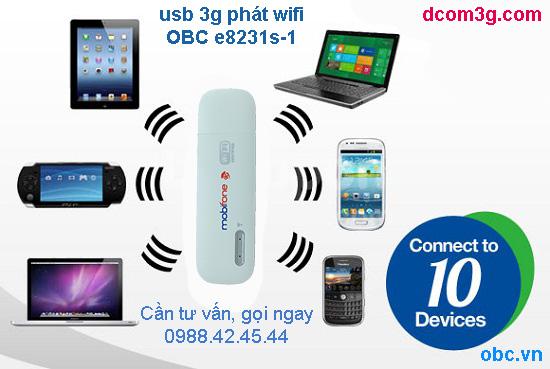 usb 3g phát wifi mobifone E8231