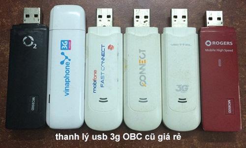 Thanh lý usb dcom 3g viettel, mobifone, vinaphone cũ giá rẻ