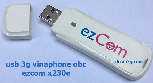 USB 3G Vinaphone ezCom X230E đa mạng