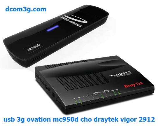 USB 3G dùng cho Modem Draytek Vigor 2912