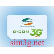 Cộng ngay 7Gb tức thì mỗi tháng với sim 3g viettel 84Gb giá siêu rẻ