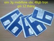 Sim 3G Mobifone Fast Connect 48Gb dùng trọn gói 1 năm